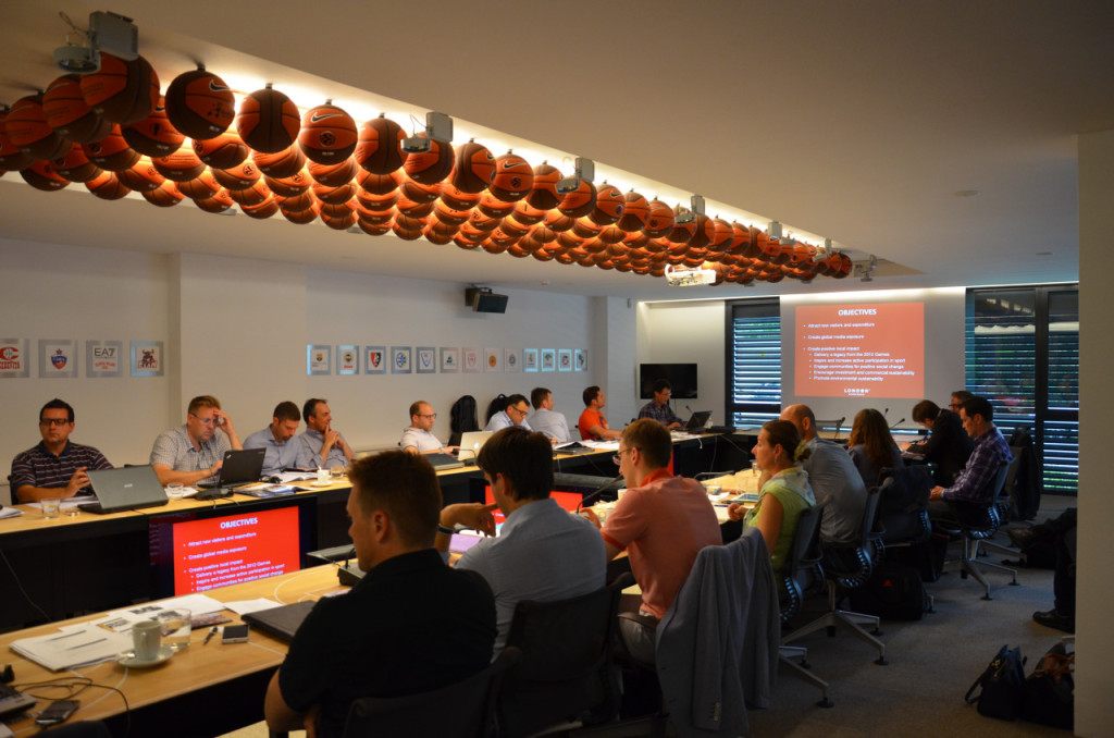 MESGO II participants at EUROLEAGUE headquarters in Barcelona