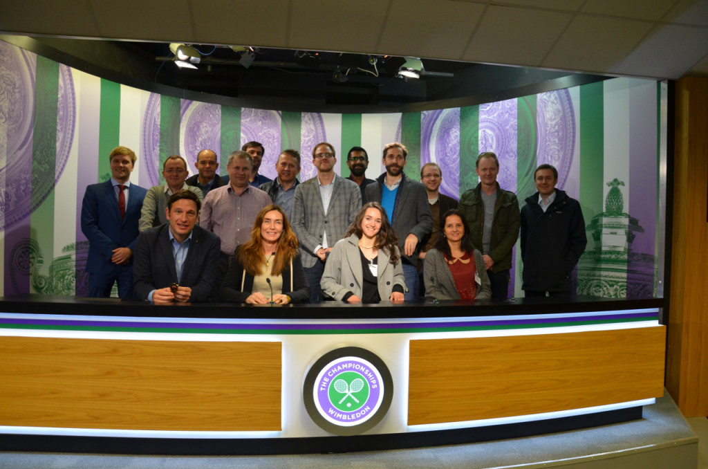 The MESGO group in the Press room at Wimbledon