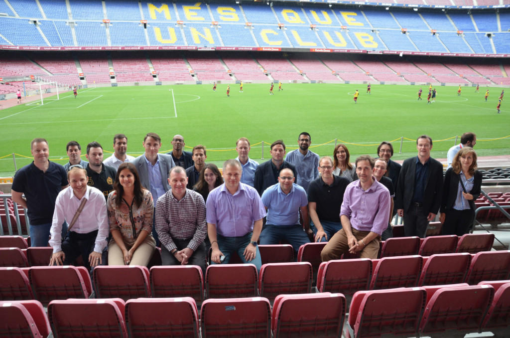 At Camp Nou, home of FC Barcelona
