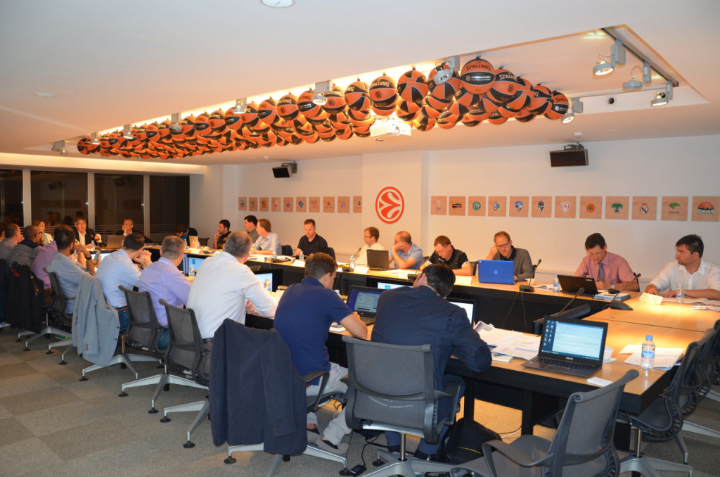 At the headquarters of Euroleague Basketball