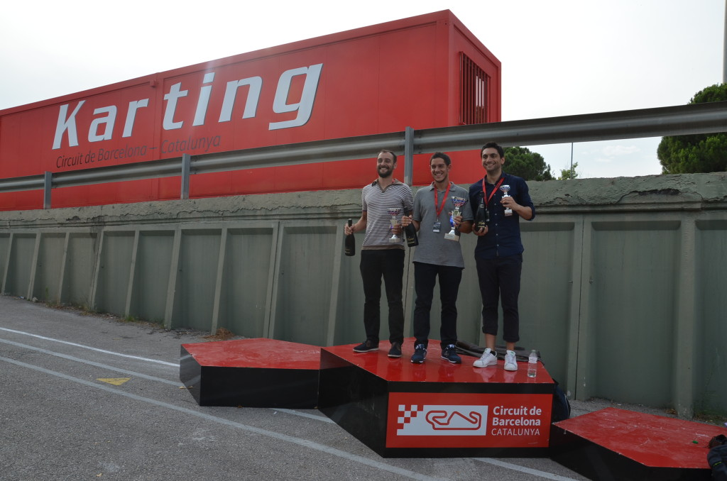 5. Podium of the karting race at the Circuit de Barcelona-Catalunya